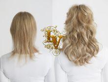 микрокапсульное наращивание волос фото до и после