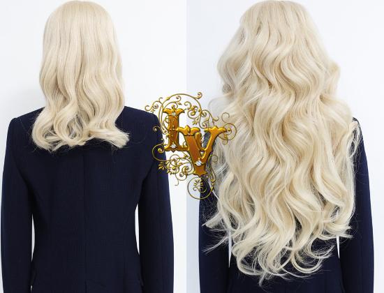 наращивание светлых волос